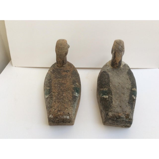Brown Antique Cork & Wood Decoys - A Pair For Sale - Image 8 of 10