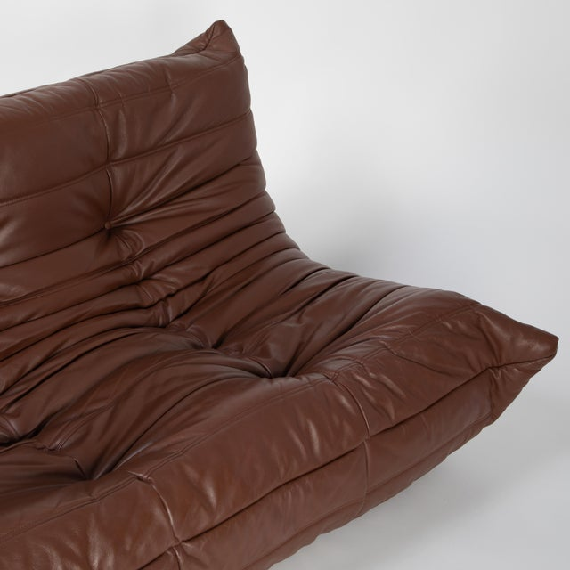 Leather Michel Ducaroy for Ligne Roset Togo Sofa For Sale - Image 7 of 13