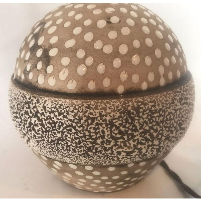 Mid-Century Studio Pottery Lamp with Decorative Surface For Sale In Atlanta - Image 6 of 8