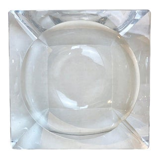 French Modern Crystal Cigar Ashtray For Sale