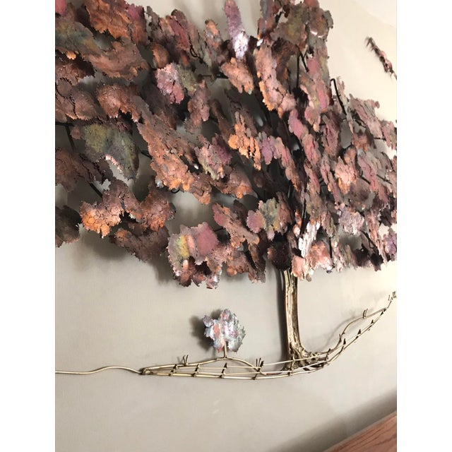 Brass and Copper Tree Wall Sculpture by C. Hess | Chairish