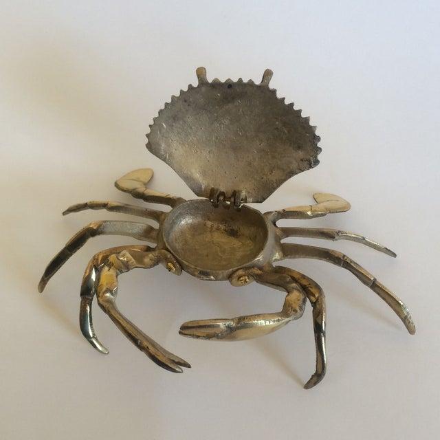 Coastal Living Brass Crab Ash Tray - Image 6 of 9