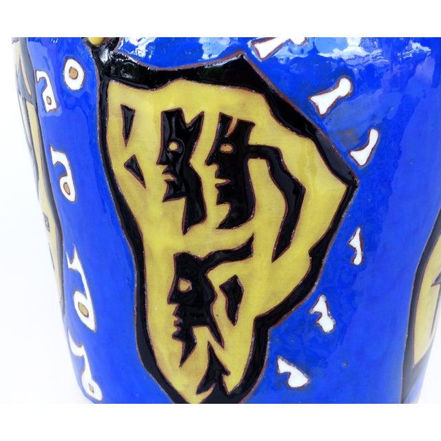 Figurative Jean Lurçat French Mid-Century Ceramic Vase 22/50 For Sale - Image 3 of 13