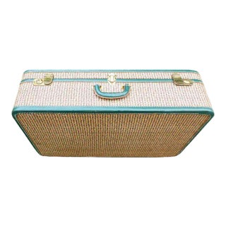 1950s Vintage Tweed Suitcase