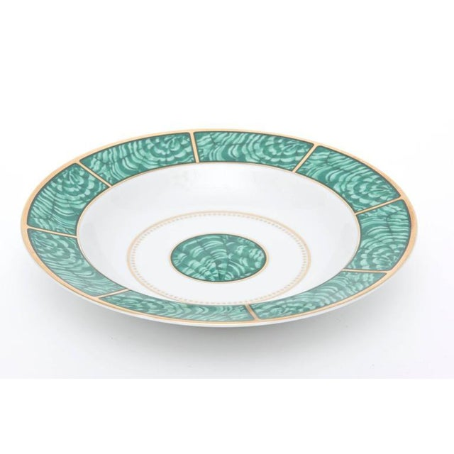 1970s Set of Four Settings of Georges Briard Imperial Malachite China Service For Sale - Image 5 of 9