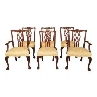 Kindel Clawfoot Mahogany Dining Room Chairs - Set of 6