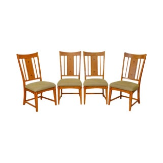 Mission Oak Set of 4 Dining Chairs by Bassett
