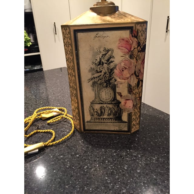 Floral Decoupage Table Lamp - Image 3 of 5