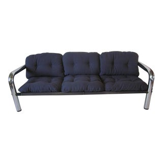 John Mascheroni Tubular Chrome Sling Sofa For Sale
