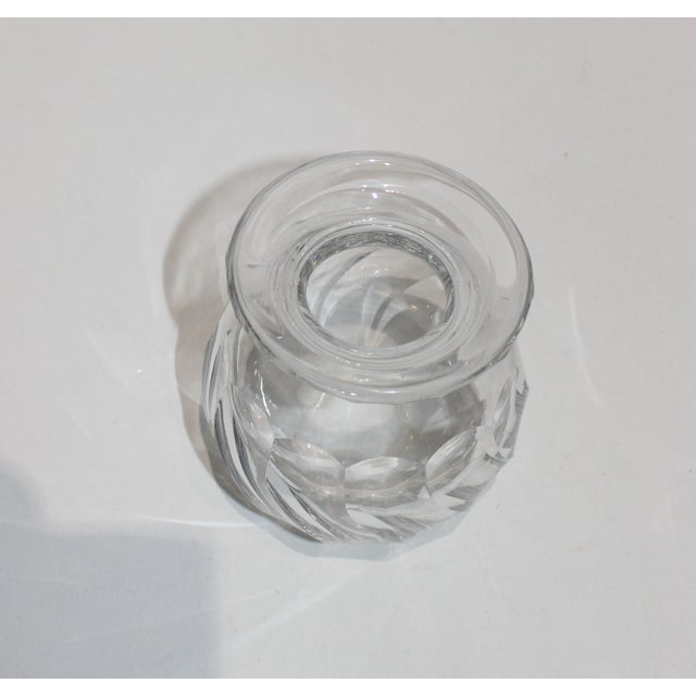 Petit Crystal Vase in Wave Pattern 1940s For Sale - Image 4 of 9