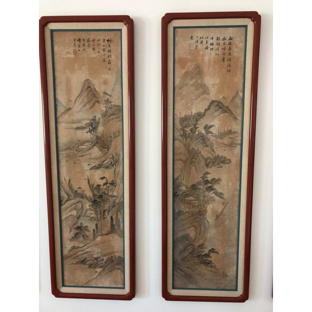 Early 20th Century Chinese Hand Painted Silk Panels - Suite of 8 For Sale - Image 5 of 8