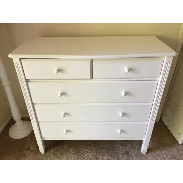 Children's Pottery Barn Kids Contemporary White 'Madeline' Dresser For Sale - Image 3 of 6