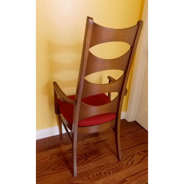 Kent Coffey Cat-Eye Dining Chairs - Set of 4 - Image 10 of 10
