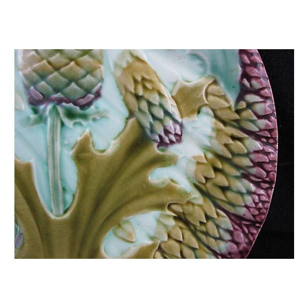 Luneville French Majolica Asparagus Plate - Image 2 of 4