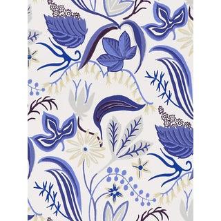 Scalamandre Saro, Light Blue Wallpaper For Sale