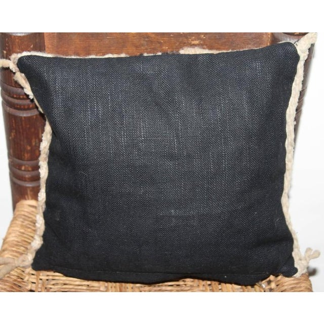 Navajo Early Small Navajo Indian Weaving Pillow For Sale - Image 3 of 3
