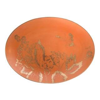 "Mid-Century Dorothy Thorpe Persimmon 14"" Serving Platter For Sale"
