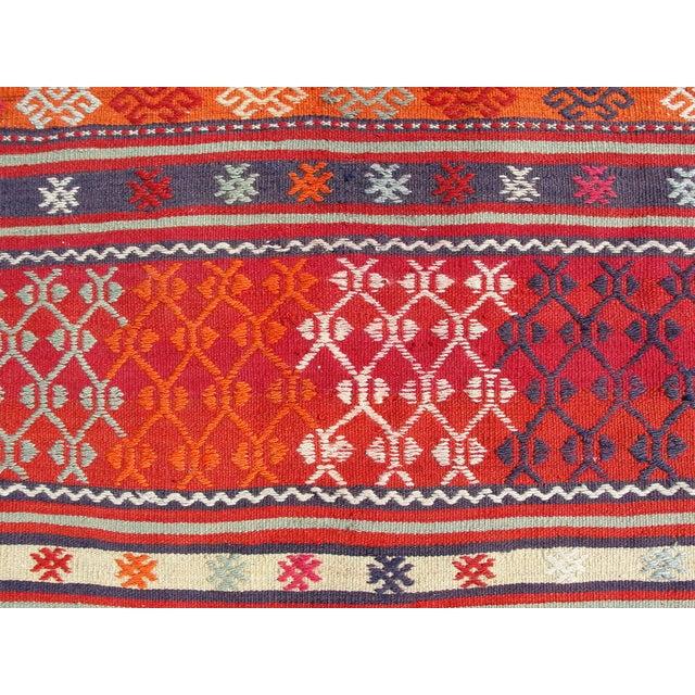 Vintage Turkish Kilim Rug - 4′11″ × 7′10″ For Sale - Image 7 of 11