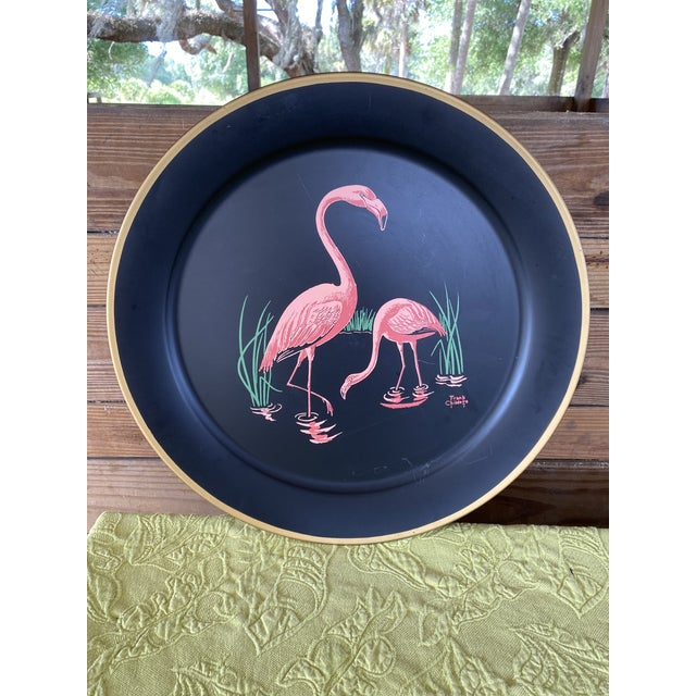 Vintage Florida Frank Childers Flamingo Wall Object For Sale - Image 10 of 11