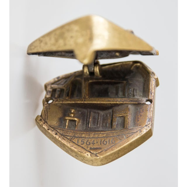 Cottage English Brass Shakespeare's House Door Knocker For Sale - Image 3 of 7