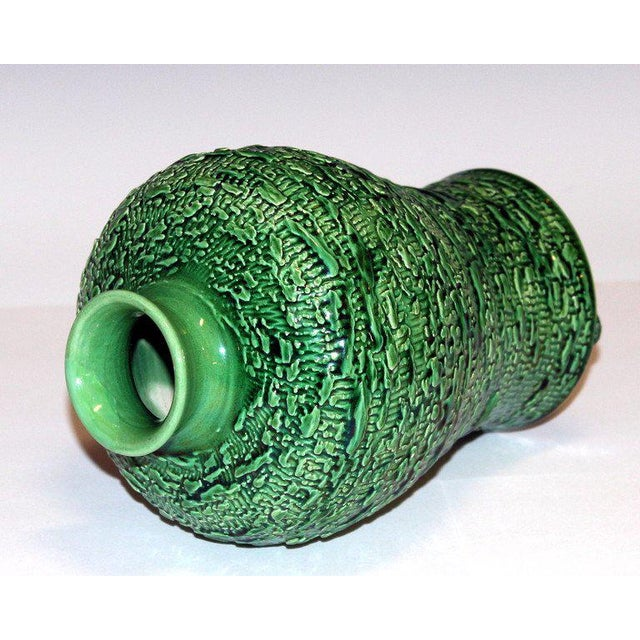 Awaji Pottery Meiping Vase With Textured Surface For Sale - Image 4 of 9