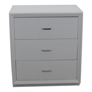 Mid Century Chest of Drawers With Chrome Hardware For Sale