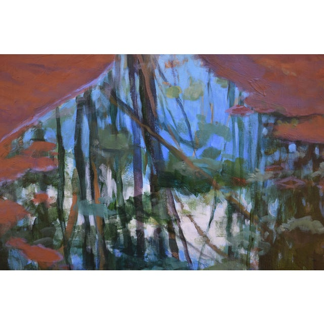 "2020s ""Standing by Peaceful Waters"" Contemporary Triptych Painting by Stephen Remick - Set of 3 For Sale - Image 5 of 13"