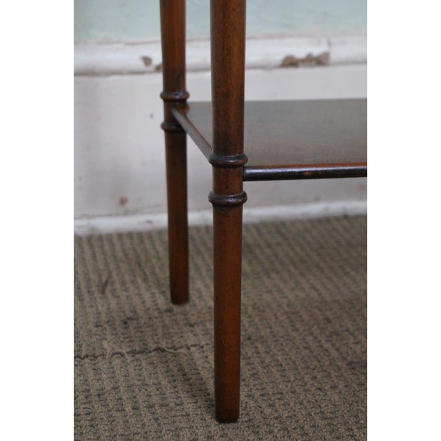 Yorkshire House Small Burl Wood 2 Drawer Console Table For Sale - Image 10 of 10