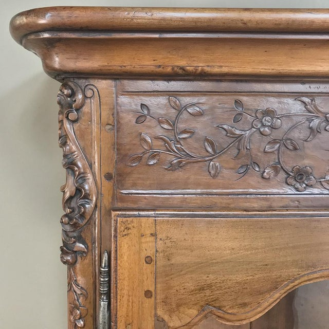 Mid 19th Century 19th Century Country French Provincial Walnut Vitrine ~ Bookcase For Sale - Image 5 of 13