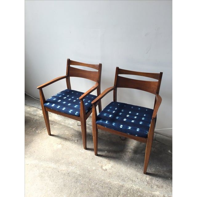 Walnut Mid-Century Dining Chairs - A Pair - Image 3 of 6