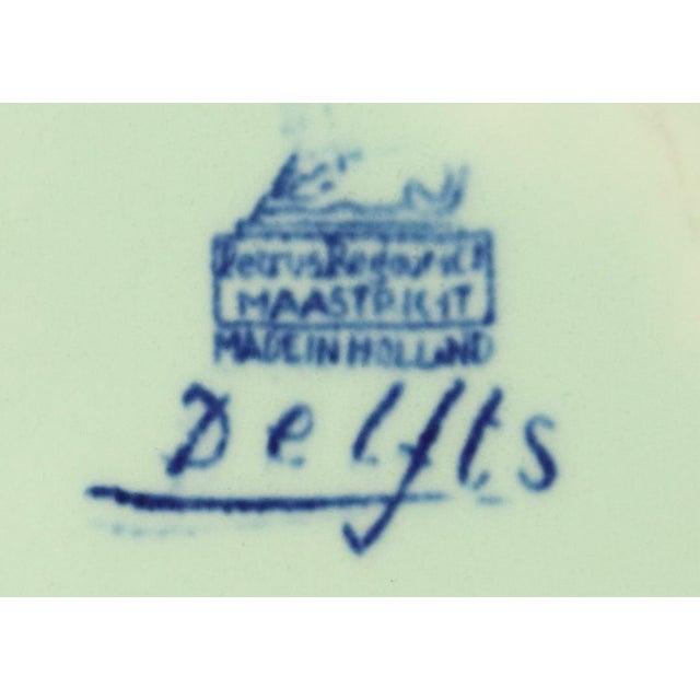 Plate, Petrus Regout Blue Delft Carriage Large For Sale - Image 4 of 5