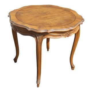 Vintage Karges Furniture French Provincial Carved Wood Side Table For Sale