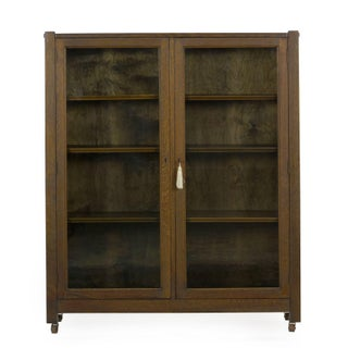 Mission Arts & Crafts Oak Antique Bookcase Bookshelf Cabinet, 20th Century Preview