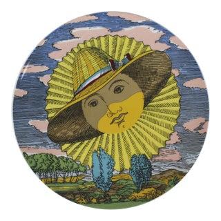 Piero Fornasetti 12 Mesi 12 Soli Calendar Plate June Sun Rosenthal For Sale