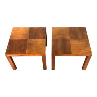 Lane Mid-Century Modern Walnut End Table / Nightstand ~ a Pair For Sale