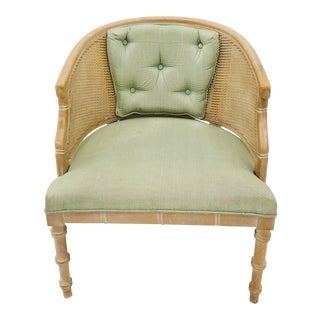 Vintage Cane Side Chair With Faux Bamboo Frame For Sale