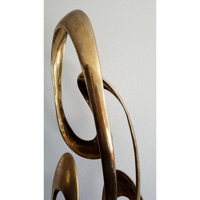 1980s Monumental Brass Sculpture Expressway LG by Tom Bennett For Sale In Las Vegas - Image 6 of 8