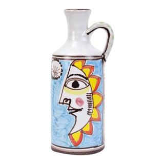 Desimone Mid-Century Modern Italian Art Pottery Carafe Vase For Sale