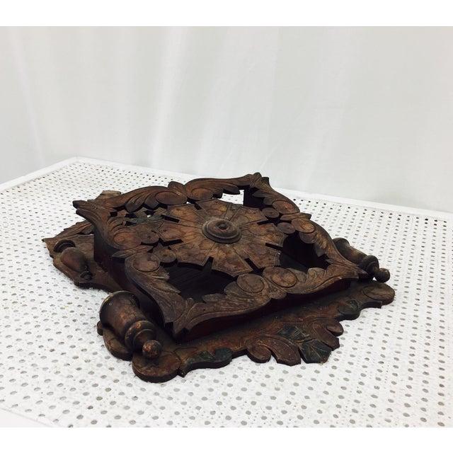 Wood Antique Victorian Letter Holder For Sale - Image 7 of 10
