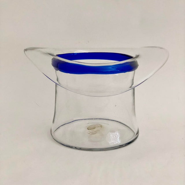 1970s Blenko Glass Top Hat Champagne Bucket For Sale - Image 5 of 7