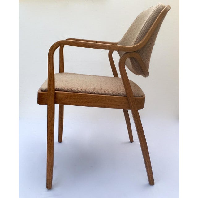 1980s Don Pettit for Knoll International Bentwood Arm / Desk Chair For Sale - Image 5 of 13