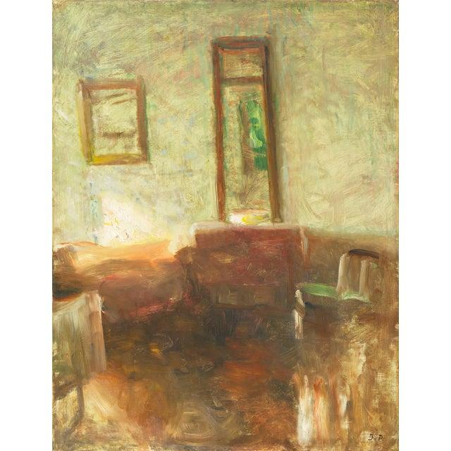 'Interior With Mirror' by Julius Paulsen, Paris Salon, Royal Danish Academy, Impressionist Oil, Benezit For Sale - Image 9 of 9