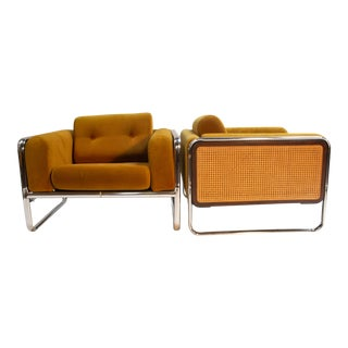 Chromcraft Lounge Chairs - a Pair For Sale