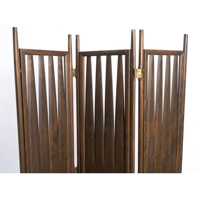 Midcentury Walnut Screen For Sale In New York - Image 6 of 8
