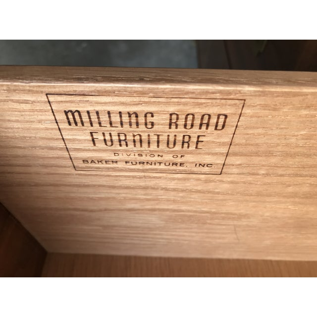 20th Century Campaign Milling Road for Baker Campaign Dresser Nightstands - a Pair For Sale In Dallas - Image 6 of 8