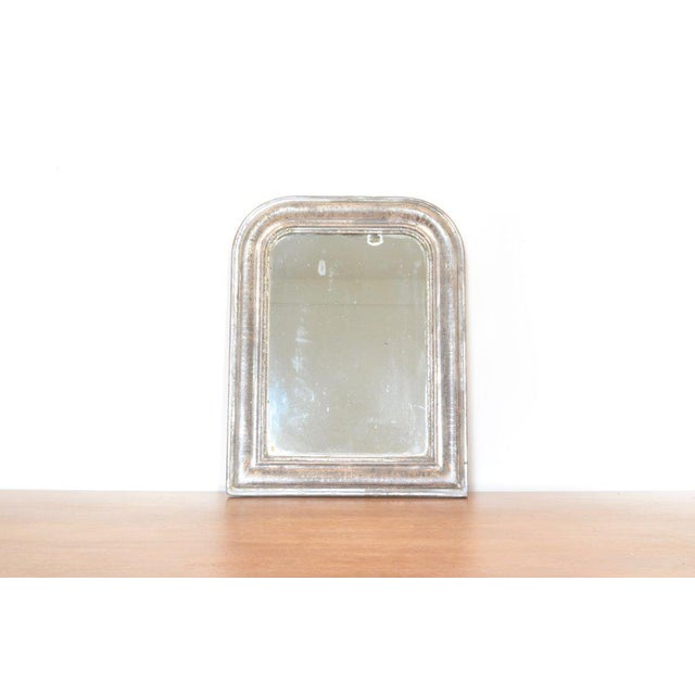 Antique Louis Philippe Mirror With Silver Frame For Sale - Image 4 of 4