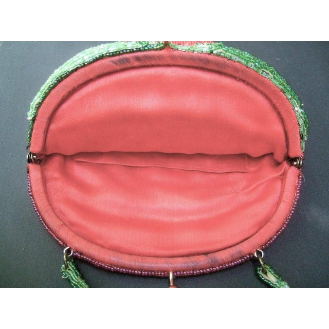 Glass Beaded Strawberry Evening Bag For Sale - Image 9 of 10