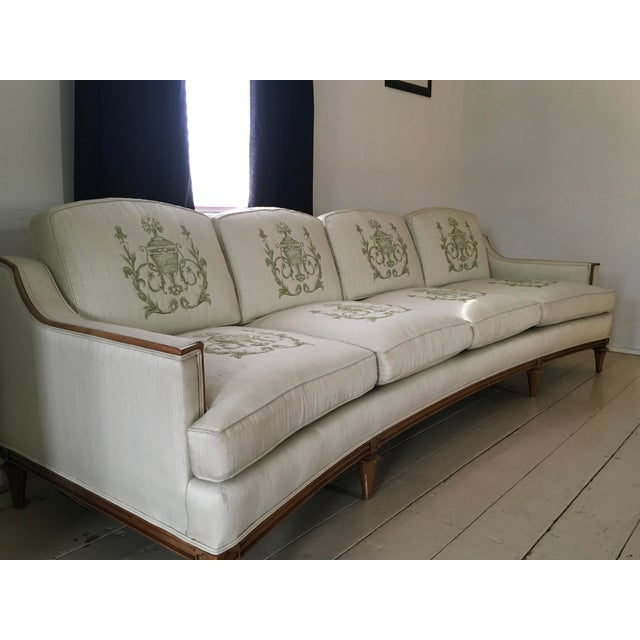 Thomasville Thomasville Mid-Century Modern Curved Sofa For Sale - Image 4 of 9