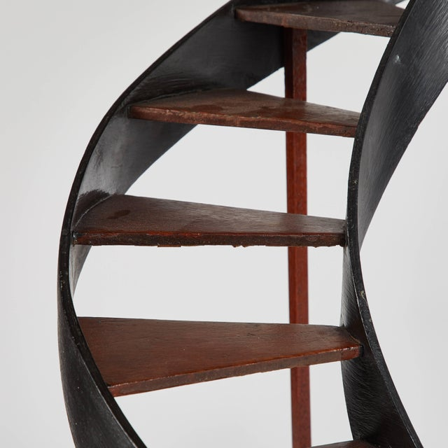 Wood Late 19th Century Model of Circular Staircase From France For Sale - Image 7 of 9