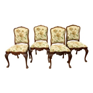 Antique Chippendale Chairs - Set of 4 For Sale